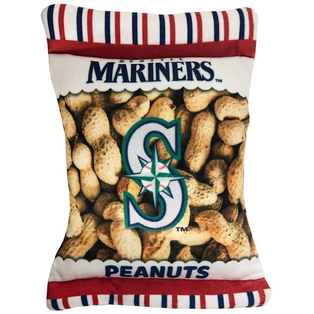 Pets First Seattle Mariners Peanut Bag Dog Toy, Medium - Carousel image #1