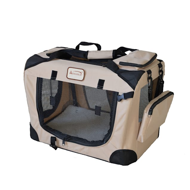 """Armarkat FoldIng Soft Dog Crate for Pets, 19.5"""" L X 13.6"""" W X 13.8"""" H - Carousel image #1"""
