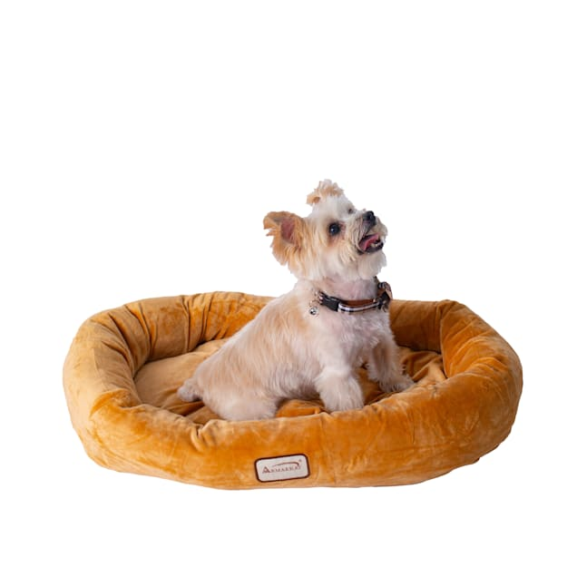 """Armarkat Brown Bolstered Pet Bed, 29"""" L X 21"""" W X 5"""" H - Carousel image #1"""