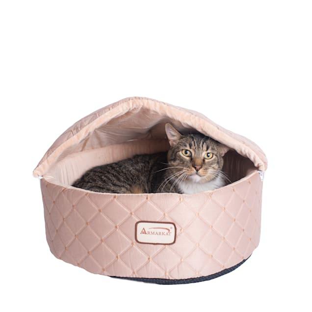 "Armarkat Light Apricot Cuddle Cave Pet Bed, 17"" L X 16"" W X 13"" H - Carousel image #1"