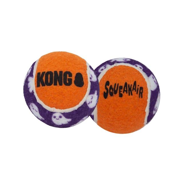 KONG Halloween SqueakAir Ghost Balls Dog Toy, Medium, Pack of 3 - Carousel image #1