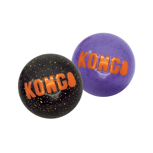 KONG Halloween Signature Balls Dog Toy, Small, Pack of 2 - Carousel image #1