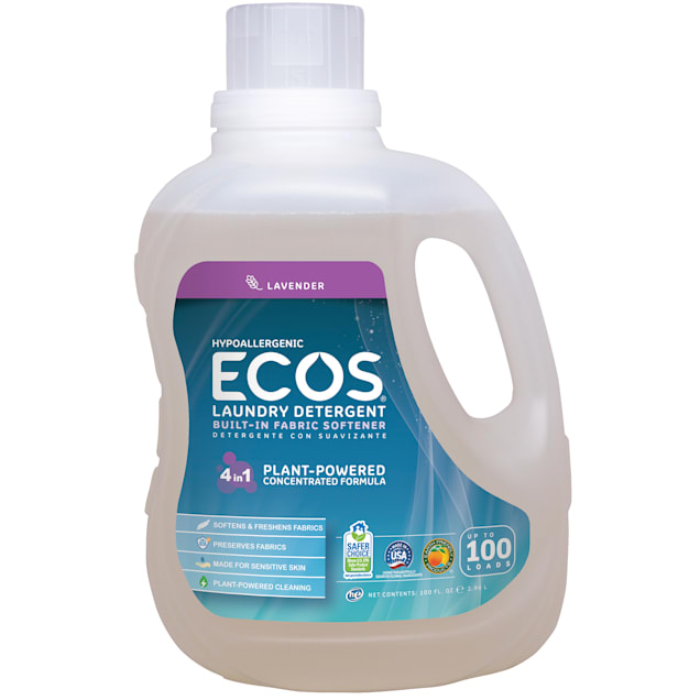 ECOS Lavender Hypoallergenic Liquid Laundry Detergent with Built-In Fabric Softener - Carousel image #1