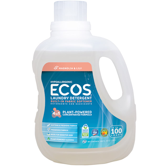 ECOS Magnolia & Lily Hypoallergenic Liquid Laundry Detergent with Built-In Fabric Softener - Carousel image #1