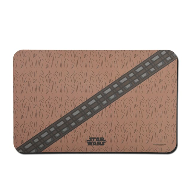 """Fetch for Pets Star Wars Chewbacca BrownDog Bowl Placemat, 19"""" L X 12"""" W - Carousel image #1"""