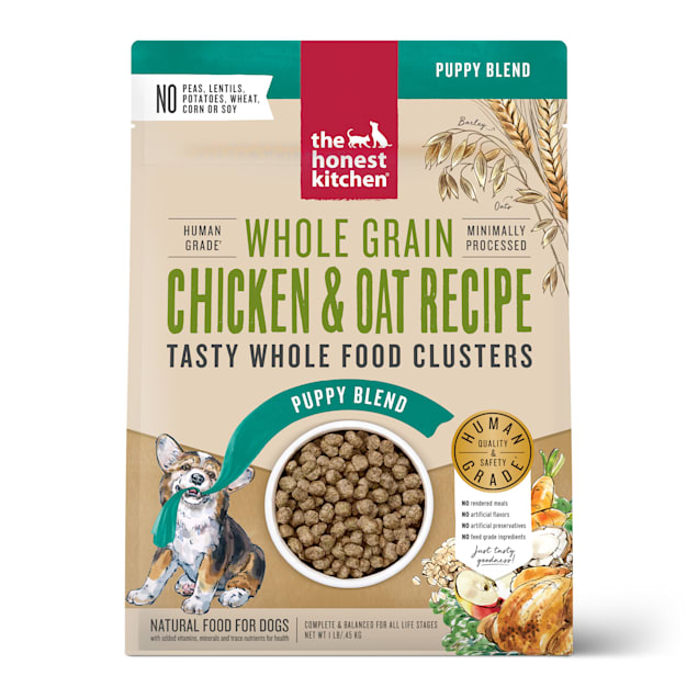 The Honest Kitchen Whole Food Clusters Puppy Whole Grain Chicken & Oat Recipe Wet Dog Food, 1 lb. - Carousel image #1