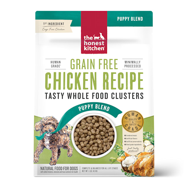The Honest Kitchen Whole Food Clusters Puppy Grain Free Chicken Recipe Dry Dog Food, 1 lb. - Carousel image #1