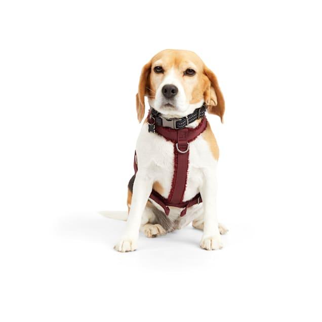 Reddy Burgundy Fleece Dog Harness, Medium - Carousel image #1