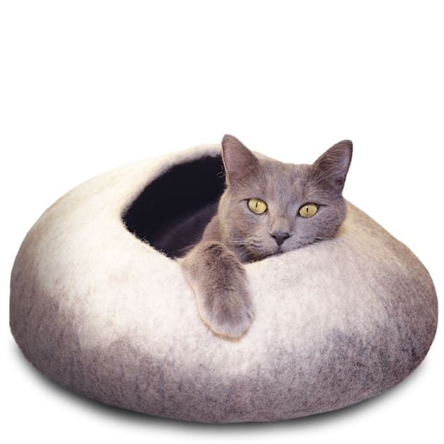 """Dharma Dog Karma Cat Ombre Natural Wool Pet Cave, 20"""" L X 14"""" W X 10"""" H - Carousel image #1"""