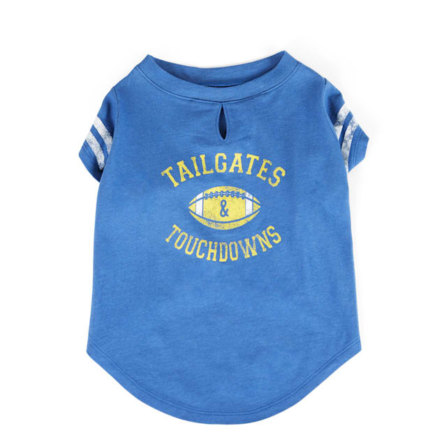 YOULY The Champion Tailgates & Touchdowns Graphic Dog T-Shirt, XX-Small - Carousel image #1