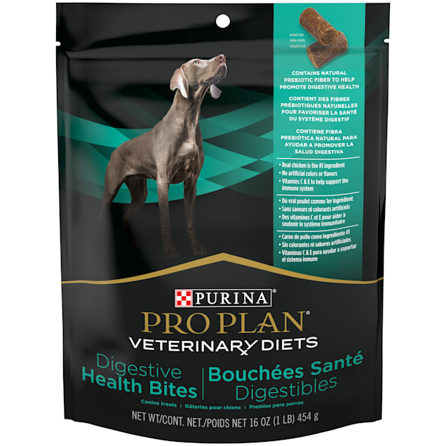 Purina Pro Plan Veterinary Diets Digestive Health Bites Dog Treats, 16 oz., Case of 5 - Carousel image #1