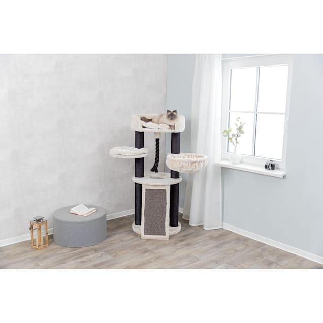 "Trixie Cream/Black Bovina Designer Cat Tower, 55.5"" H - Carousel image #1"