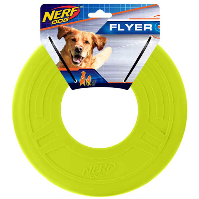 Nerf Green TPR Atomic Flyer Dog Toy, Medium - Carousel image #1