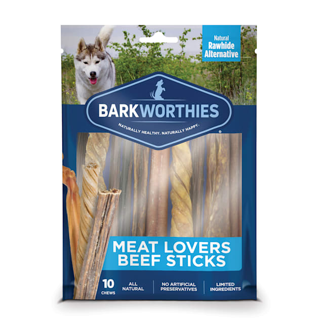 Barkworthies Beef Meat Lovers Assorted Dog Sticks, Pack of 10 - Carousel image #1