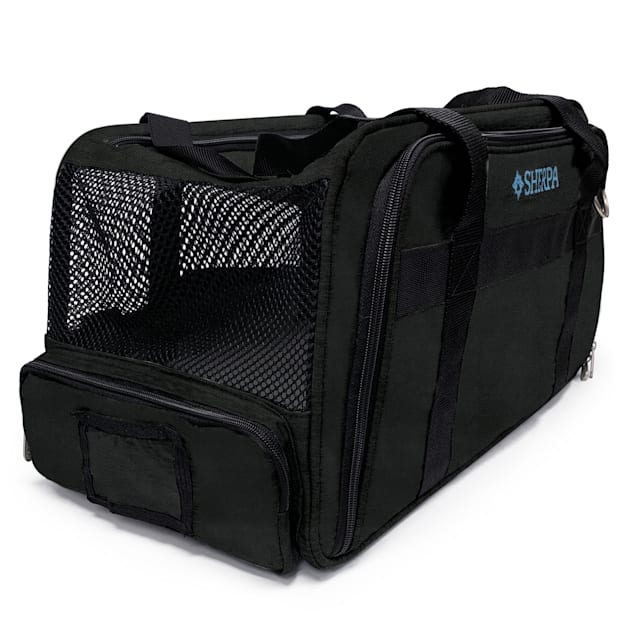 """Sherpa Black Expandable Dog Carrier, 19.5"""" L X 11"""" W X 10.5"""" H - Carousel image #1"""