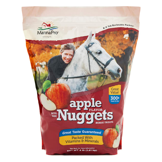 Manna Pro Bite-Sized Apple Nuggets for Horse, 4 lbs. - Carousel image #1