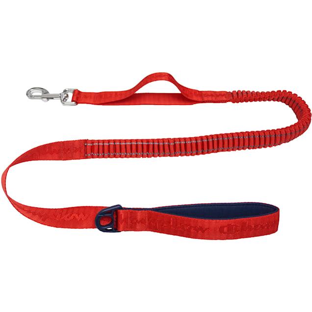 Champion Red Jacquard Dog Leash, Medium - Carousel image #1