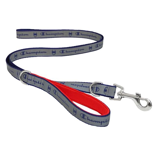 Champion Navy Reflective Dog Leash, Medium - Carousel image #1