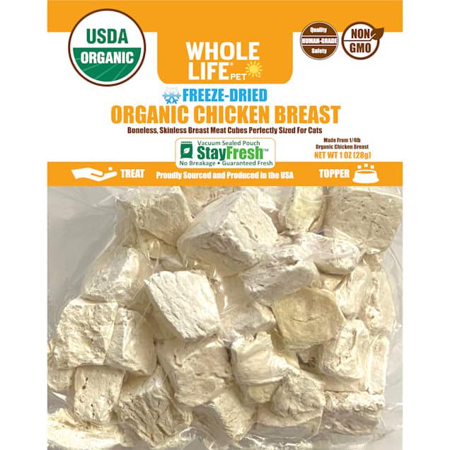 Whole Life Pet Organic USA Freeze Dried Organic Chicken Treats for Cats, 1 oz. - Carousel image #1