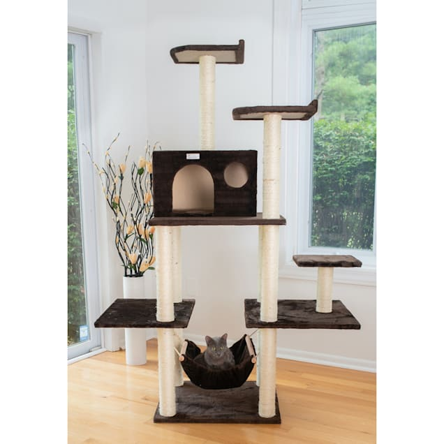 "Gleepet Brown GP78680623 Cat Tree with Five Levels, Condo, Hammock, 68"" H - Carousel image #1"