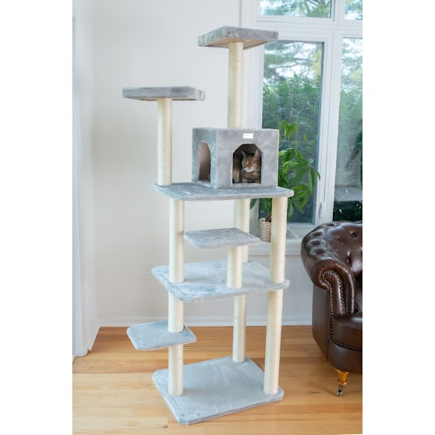 """Gleepet Silver Gray GP78740822 Cat Tree With Seven Levels, 74"""" H - Carousel image #1"""