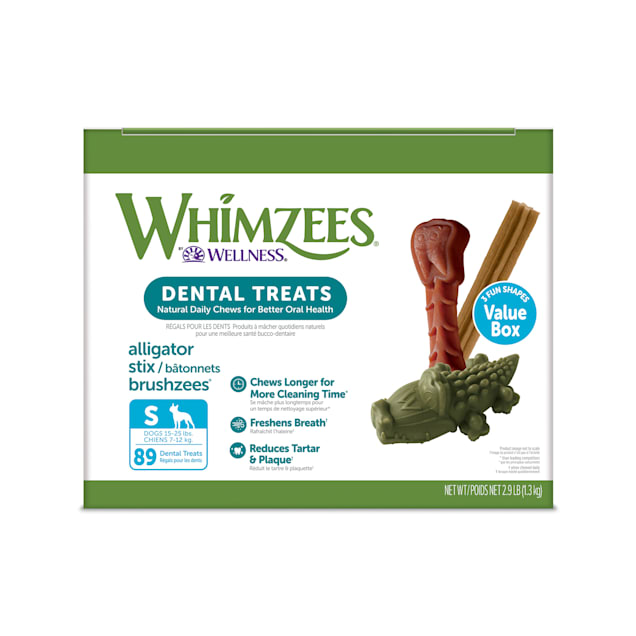 Whimzees Small Natural Dental Value Box Dog Treats, 47.1 oz., Count of 89 - Carousel image #1