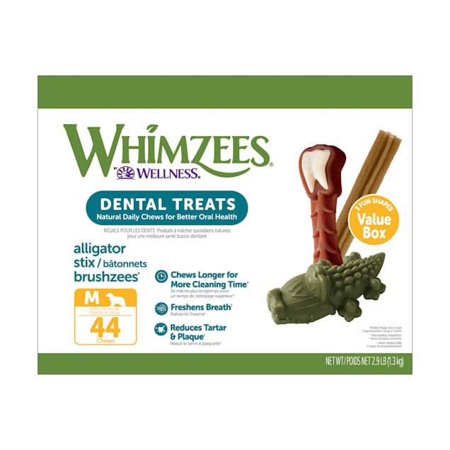 Whimzees Medium Natural Dental Value Box Dog Treats, 46.6 oz., Count of 44 - Carousel image #1