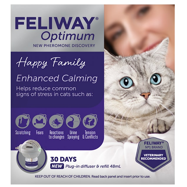 Feliway Optimum Diffuser & Refill Kit for Cats, 48 ml. - Carousel image #1