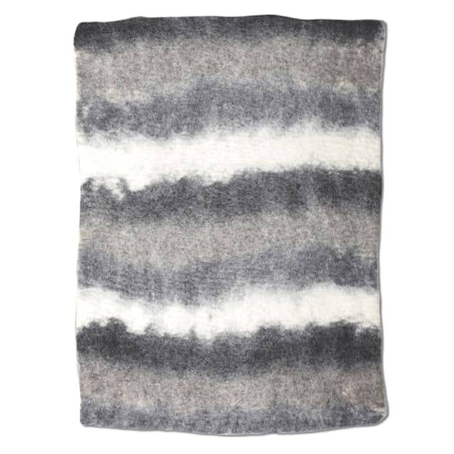 "Dharma Dog Karma Cat Black Multi Ombre Wool Pet Mat, 24"" L X 18"" W - Carousel image #1"