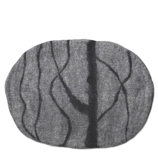 "Dharma Dog Karma Cat Light Grey River Stone Wool Pet Mat, 24"" L X 18"" W - Carousel image #1"