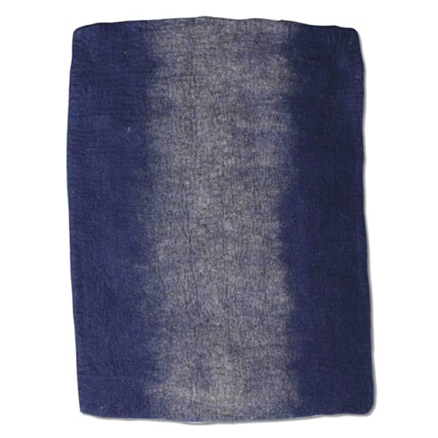 "Dharma Dog Karma Cat Navy Ombre Wool Pet Mat, 24"" L X 18"" W - Carousel image #1"