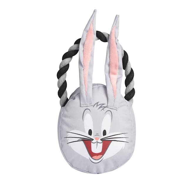 Fetch for Pets Looney Tunes Bugs Bunny Rope Head Stuffed Dog Toy, Medium - Carousel image #1