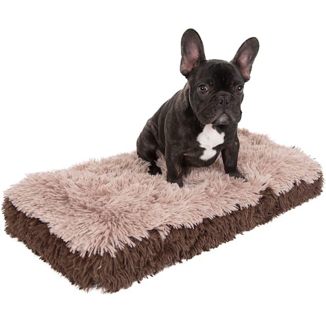 "Paws & Pals Beige Fuzzy Pet Bed, 14"" L X 24"" W X 2"" H - Carousel image #1"