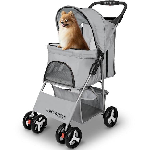 Paws & Pals Gray EZ Walk 4 Wheel Pet Stroller - Carousel image #1