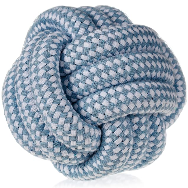 Paws & Pals Blue Rope Big Ball Dog Toy, Small - Carousel image #1