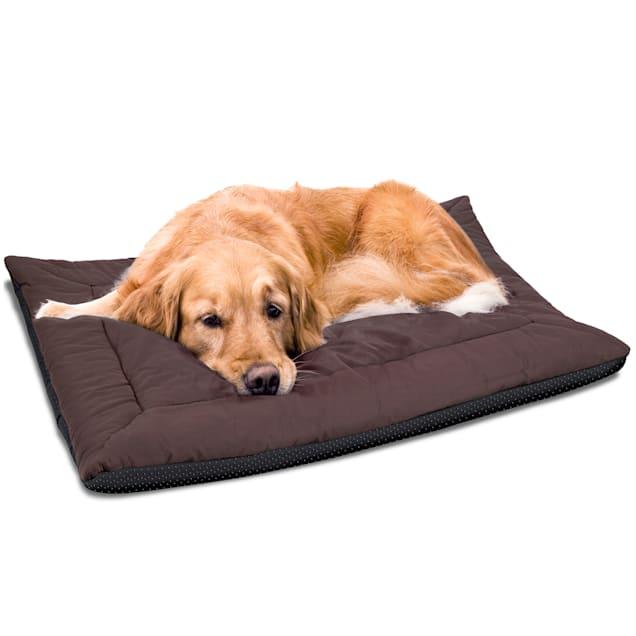 "Paws & Pals Brown Warming Pet Bed Cushion, 36"" L X 27"" W X 0.5"" H - Carousel image #1"