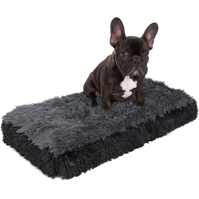"Paws & Pals Black Fuzzy Pet Bed, 14"" L X 24"" W X 2"" H - Carousel image #1"