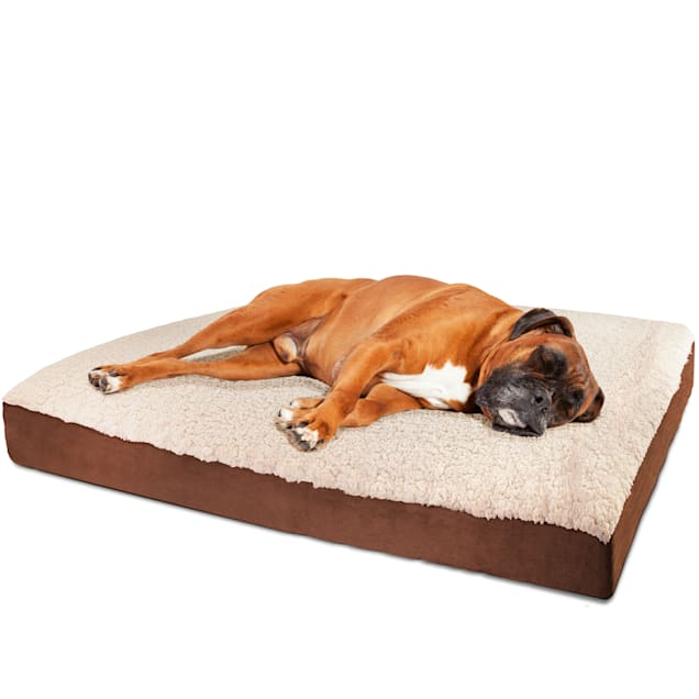"""Paws & Pals Brown Orthopedic Foam Bed Crate Cushion for Pets, 30"""" L X 20"""" W X 3"""" H - Carousel image #1"""