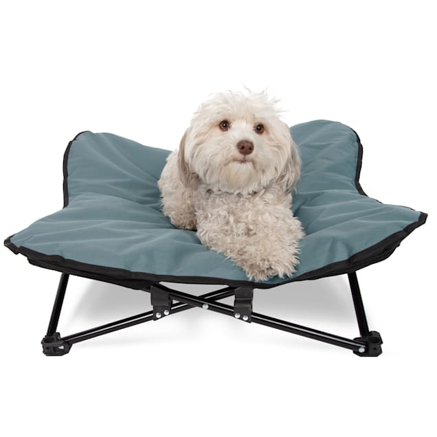"""Paws & Pals Blue Elevated Camping Pet Bed, 28"""" L X 28"""" W X 9.5"""" H - Carousel image #1"""