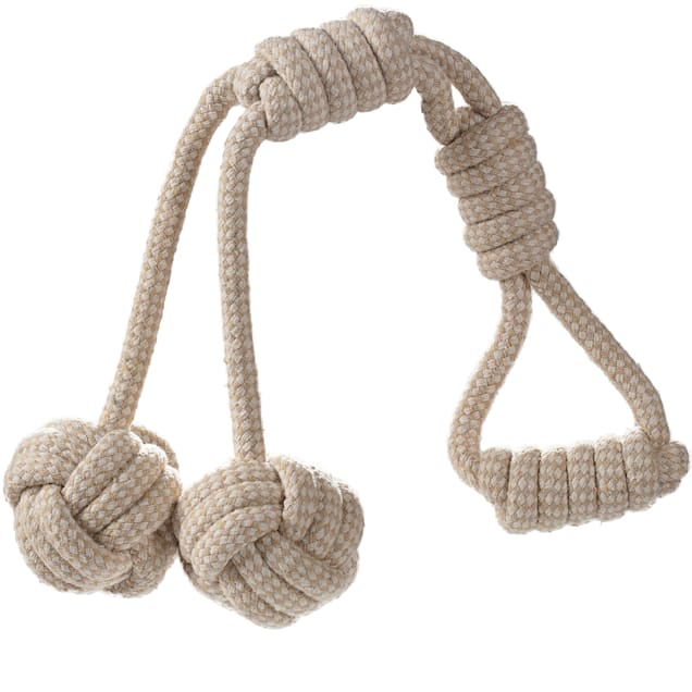 Paws & Pals Beige Rope Y-Balls Dog Toy, Small - Carousel image #1