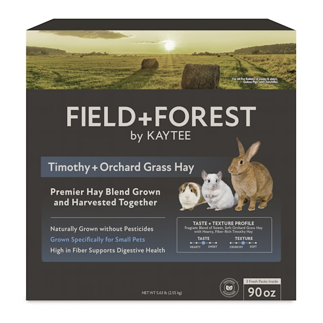 Kaytee Field+Forest Timothy+Orchard Grass Hay, 90 oz. - Carousel image #1