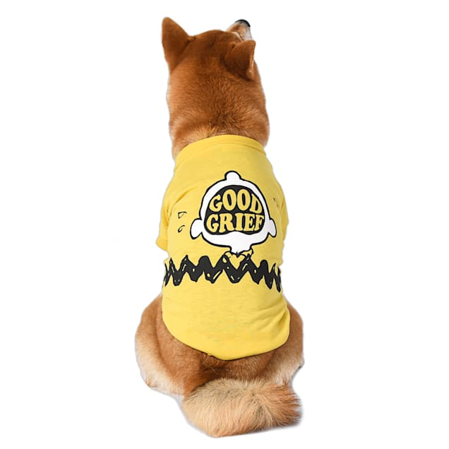 Fetch for Pets Peanuts Yellow Good Grief Dog T Shirt, X-Small - Carousel image #1