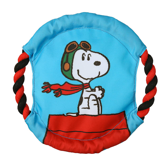 Fetch for Pets Peanuts Flying Ace Snoopy Rope Frisbee Dog Toy, Medium - Carousel image #1