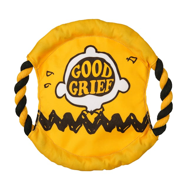 Fetch for Pets Peanuts Good Grief Rope Frisbee Dog Toy, Medium - Carousel image #1