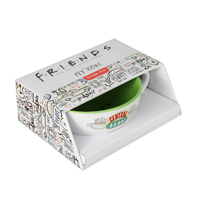 Fetch for Pets Warner Bros Friends TV Show Central Perk Ceramic Dog Food Bowl, Small - Carousel image #1