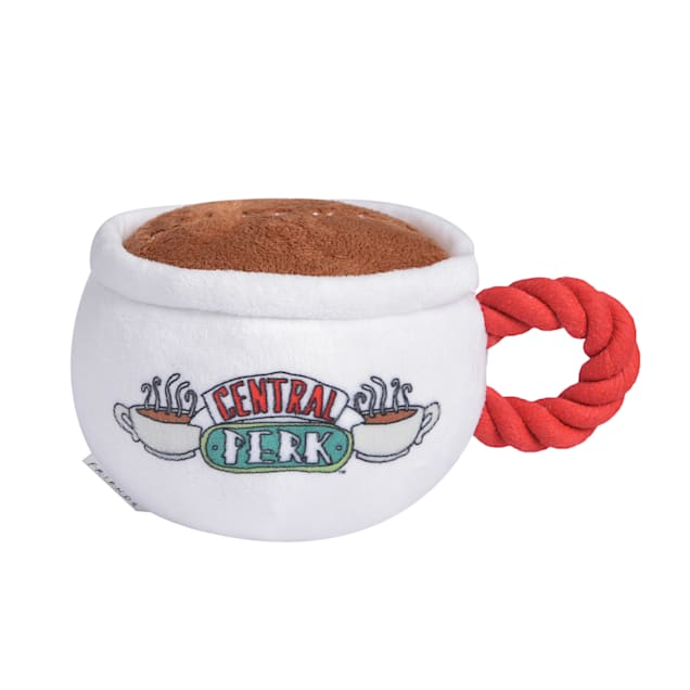 Fetch for Pets Friends TV Show Central Perk Coffee Mug Plush Dog Toy With Rope Handle, Small - Carousel image #1