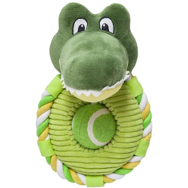 Petique Calvin the Crocodile Pet Toy, Small - Carousel image #1