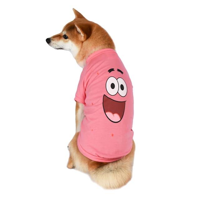 Fetch for Pets SpongeBob SquarePants Patrick Pink Shirt & Green Bandana Combo for Dogs, Small - Carousel image #1