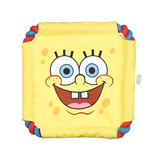 Fetch for Pets SpongeBob Nickelodeon SquarePants Rope Frisbee Dog Toy, Small - Carousel image #1