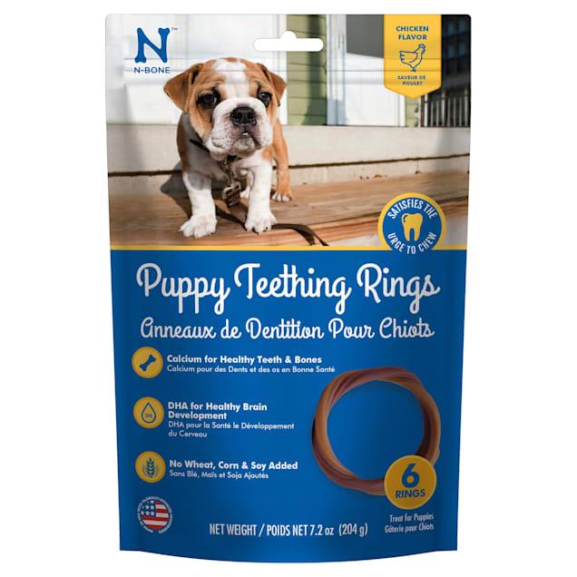 N-Bone Puppy Teething Rings Chicken Flavor Chew Treats, 7.2 oz., Count of 6 - Carousel image #1